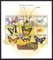 Tanzania, Scott #1788-1789, Mint Never Hinged, Butterflies, Issued 1999 - Tanzania (1964-...)