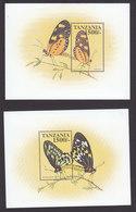 Tanzania, Scott #1790-1791, Mint Never Hinged, Butterflies, Issued 1999 - Tanzania (1964-...)