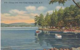 New York Caroga Lake Statye Camp 1948 Curteich - NY - New York