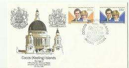Cocos (keeling) Islands SG 70-71 1981 Royal Wedding ,First Day Cover - Cocos (Keeling) Islands