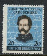Germany 1952 20pf Carl Schurz Issue #691  MNH - [7] Federal Republic