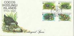 Cocos (keeling) Islands SG 264-267 1992 WWF Buff Banded Rail ,First Day Cover - Cocos (Keeling) Islands
