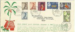 Fiji 1962 Queen Elizabeth Definitives FDC - Fiji (1970-...)