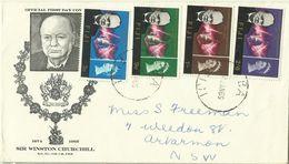 Fiji 1966 Churchill Addressed First Day Cover - Fiji (1970-...)