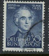 Germany 1953 30pf Justus Von Liebig Issue #695 - [7] Federal Republic