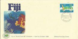 Fiji 1988 World Expo,First Day Cover - Fiji (1970-...)