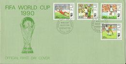 Fiji 1990 World Football Championship,First Day Cover - Fiji (1970-...)
