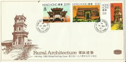 Hong Kong 1980 Rural Architecture,First Day Cover - 1997-... Chinese Admnistrative Region