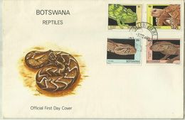 South Africa Botswana 1980 Reptiles,First Day Cover - Bophuthatswana