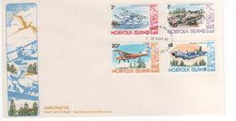 Norfolk Island 1980 Aeroplanes Dated 25 Mar 80,FDC - Norfolk Island
