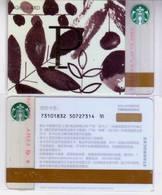 Starbucks China 2017 The English Alphabet Gift Card RMB100 P Word - Chine