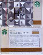 Starbucks China 2017 The English Alphabet Gift Card RMB100 F Word - Chine