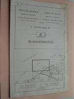 BLANKENBERGE ( Nr. 4 ) Anno 1962 - Schaal / Echelle / Scale 1: 50.000 ( Stafkaart : Zie Foto's ) ! - Geographical Maps