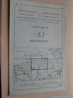 WATERVLIET ( Nr. 6 ) Anno 1962 - Schaal / Echelle / Scale 1: 50.000 ( Stafkaart : Zie Foto's ) ! - Geographical Maps