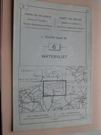 WATERVLIET ( Nr. 6 ) Anno 1962 - Schaal / Echelle / Scale 1: 50.000 ( Stafkaart : Zie Foto's ) ! - Cartes Géographiques