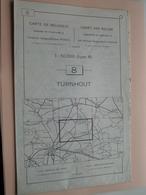 TURNHOUT ( Nr. 8 ) Anno 1962 - Schaal / Echelle / Scale 1: 50.000 ( Stafkaart : Zie Foto's ) ! - Cartes Géographiques