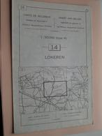 LOKEREN ( Nr. 14 ) Anno 1962 - Schaal / Echelle / Scale 1: 50.000 ( Stafkaart : Zie Foto's ) ! - Geographical Maps