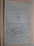 LIER ( Nr. 16 ) Anno 1962 - Schaal / Echelle / Scale 1: 50.000 ( Stafkaart : Zie Foto's ) ! - Cartes Géographiques
