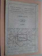 LIER ( Nr. 16 ) Anno 1962 - Schaal / Echelle / Scale 1: 50.000 ( Stafkaart : Zie Foto's ) ! - Geographical Maps