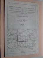MOL ( Nr. 17 ) Anno 1962 - Schaal / Echelle / Scale 1: 50.000 ( Stafkaart : Zie Foto's ) ! - Cartes Géographiques