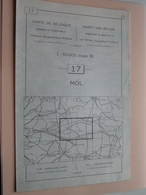 MOL ( Nr. 17 ) Anno 1962 - Schaal / Echelle / Scale 1: 50.000 ( Stafkaart : Zie Foto's ) ! - Geographical Maps