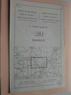 MAASEIK ( Nr. 18 ) Anno 1962 - Schaal / Echelle / Scale 1: 50.000 ( Stafkaart : Zie Foto's ) ! - Mapas Geográficas