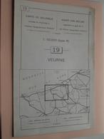 VEURNE ( Nr. 19 ) Anno 1962 - Schaal / Echelle / Scale 1: 50.000 ( Stafkaart : Zie Foto's ) ! - Cartes Géographiques