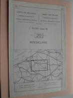 ROESELARE ( Nr. 20 ) Anno 1962 - Schaal / Echelle / Scale 1: 50.000 ( Stafkaart : Zie Foto's ) ! - Cartes Géographiques