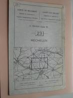 MECHELEN ( Nr. 23 ) Anno 1962 - Schaal / Echelle / Scale 1: 50.000 ( Stafkaart : Zie Foto's ) ! - Mapas Geográficas