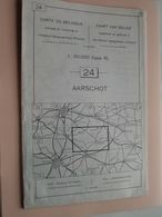 AARSCHOT ( Nr. 24 ) Anno 1962 - Schaal / Echelle / Scale 1: 50.000 ( Stafkaart : Zie Foto's ) ! - Geographische Kaarten