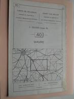 WAVRE ( Nr. 40 ) Anno 1962 - Schaal / Echelle / Scale 1: 50.000 ( Stafkaart : Zie Foto's ) ! - Cartes Géographiques