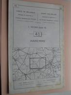 WAREMME ( Nr. 41 ) Anno 1962 - Schaal / Echelle / Scale 1: 50.000 ( Stafkaart : Zie Foto's ) ! - Cartes Géographiques
