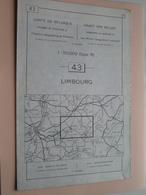 LIMBOURG ( Nr. 43 ) Anno 1962 - Schaal / Echelle / Scale 1: 50.000 ( Stafkaart : Zie Foto's ) ! - Cartes Géographiques