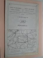 PERUWELZ ( Nr. 44 ) Anno 1962 - Schaal / Echelle / Scale 1: 50.000 ( Stafkaart : Zie Foto's ) ! - Geographical Maps