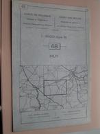 HUY ( Nr. 48 ) Anno 1962 - Schaal / Echelle / Scale 1: 50.000 ( Stafkaart : Zie Foto's ) ! - Cartes Géographiques