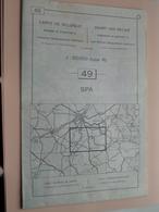 SPA ( Nr. 49 ) Anno 1962 - Schaal / Echelle / Scale 1: 50.000 ( Stafkaart : Zie Foto's ) ! - Cartes Géographiques