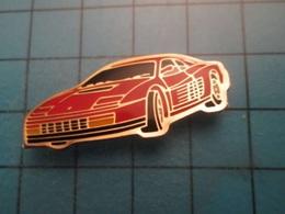 Pin412e Pin's Pins : Rare Et Belle Qualité : FERRARI ROUGE TESTAROSSA  , Marquage Au Dos : - ----- - - Ferrari