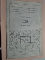 STAVELOT ( Nr. 50 ) Anno 1962 - Schaal / Echelle / Scale 1: 50.000 ( Stafkaart : Zie Foto's ) ! - Cartes Géographiques