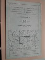 NEUFCHATEAU ( Nr. 65 ) Anno 1962 - Schaal / Echelle / Scale 1: 50.000 ( Stafkaart : Zie Foto's ) ! - Cartes Géographiques