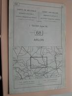 ARLON ( Nr. 68 ) Anno 1962 - Schaal / Echelle / Scale 1: 50.000 ( Stafkaart : Zie Foto's ) ! - Cartes Géographiques