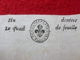 TIMBRE GENERALITE DE TOULOUSE 1673 MANUSCRIT ESPERAUSSES - Seals Of Generality