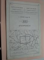 STERPENICH ( Nr. 69 ) Anno 1962 - Schaal / Echelle / Scale 1: 50.000 ( Stafkaart : Zie Foto's ) ! - Geographical Maps