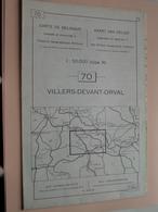 VILLERS-DEVANT-ORVAL ( Nr. 70 ) Anno 1962 - Schaal / Echelle / Scale 1: 50.000 ( Stafkaart : Zie Foto's ) ! - Cartes Géographiques