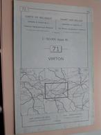 VIRTON ( Nr. 71 ) Anno 1962 - Schaal / Echelle / Scale 1: 50.000 ( Stafkaart : Zie Foto's ) ! - Cartes Géographiques