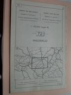 HAUWALD ( Nr. 72 ) Anno 1962 - Schaal / Echelle / Scale 1: 50.000 ( Stafkaart : Zie Foto's ) ! - Geographical Maps