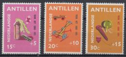 Nederlandse Antillem - Kinderzegels, Kinderspelen - Poppen/karretjes/tollen - MNH - NVPH 442-444 - Kindertijd & Jeugd