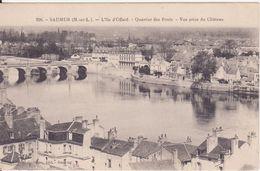 CPA  - 256. SAUMUR - Quartier Des Ponts, Vue Prise Du Châeau - Saumur