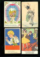 Beau Lot De 60 Cartes Postales De Fantaisie ( + Humor )     Mooi Lot Van 60 Postkaarten Fantasie - 60 Scans - Cartes Postales
