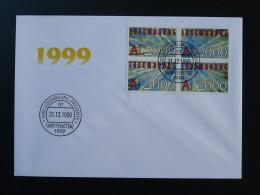 FDC Saint-Sylvestre Luxembourg 31 Décembre 1999 (sans Feu D'artifice) - FDC