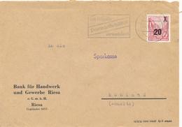 RIESA - 1955 , Bank Für Handel Und Gewerbe Riesa  - Brief Nach Ruhland - DDR